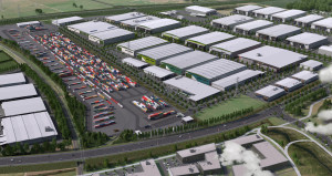 An artist's impression of the Ruakura inland port and logistics zone