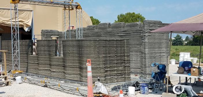 US Marines build world-first 3D printed concrete barracks