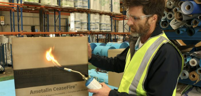 Fire-proof building wrap launched