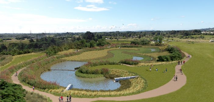 Built wetland opens in new subdivision