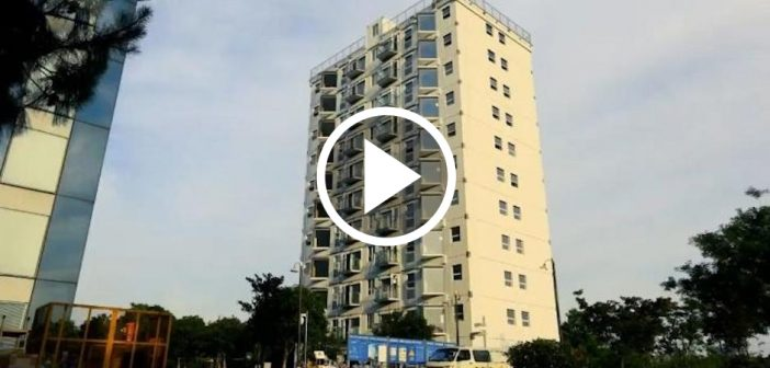 China builds 10-storey tower in a day